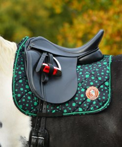 Limited ediotion Saddle pad with clover print