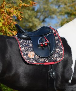 Limited ediotion Saddle pad with camouflage print